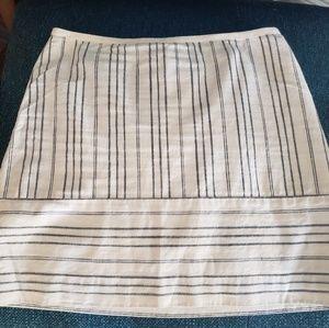 Madewell Light Cotton Striped Skirt